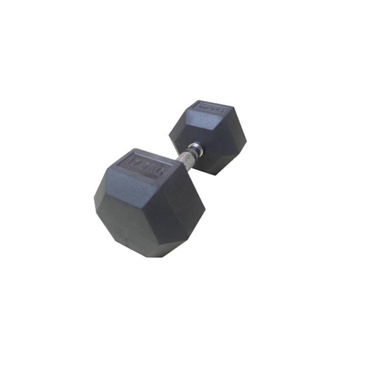 LJ-04 Rubber hex Dumbbell